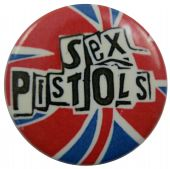 Sex Pistols - 'Logo Red, White & Blue' Button Badge